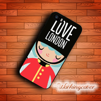 Fundas Cartoon British Royal Guard Case for iPhone 7 6S 6 5S SE 5 5C 4S 4 Plus Case Cover for iPod Touch 6 5 Case.