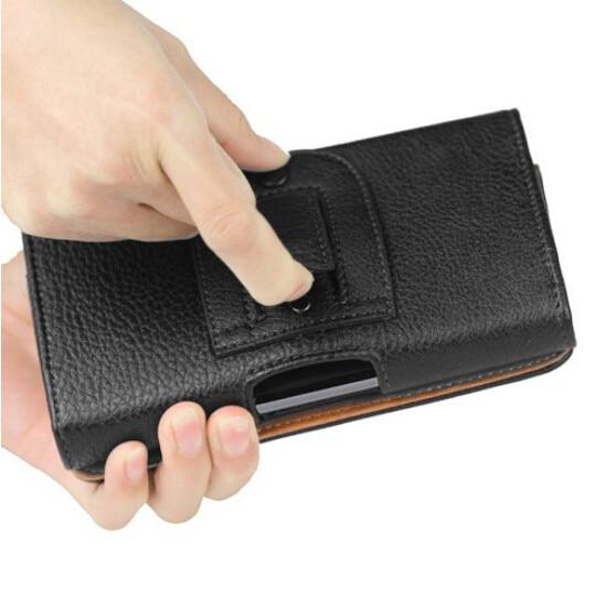 חדש שחור אוניברסלי נרתיק מותן תלוי תפס חגורה נרתיק עור PU תיק כיסוי מקרה עבור LG L90 D410 L90 D405 כפול (4)