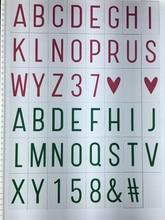 Tamanho A4 Caixa de Luz LEVOU Cinematográfico Números Pretos/Números Coloridos/cartão de glifos para a4 lightbox cinema dos desenhos animados diy letras definir(China (Mainland))