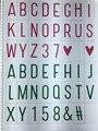 Tamanho A4 Caixa de Luz LEVOU Cinematográfico Números Pretos/Números Coloridos/cartão de glifos para a4 lightbox cinema dos desenhos animados diy letras definir