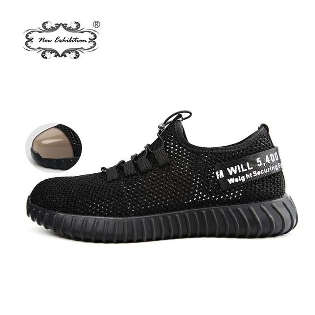 Yeni sergi nefes güvenlik ayakkabıları erkek Hafif yaz anti-smashing piercing iş sandalet Tek örgü sneakers 35- 46