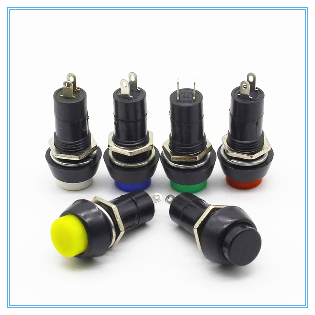12mm Plastic Push Button Switch Self Locking Momentary Switchs 3a 250v Off On 1 Circuit Spst Car Van 150v Pbs 11a 11b 2pin In Switches From Lights Lighting