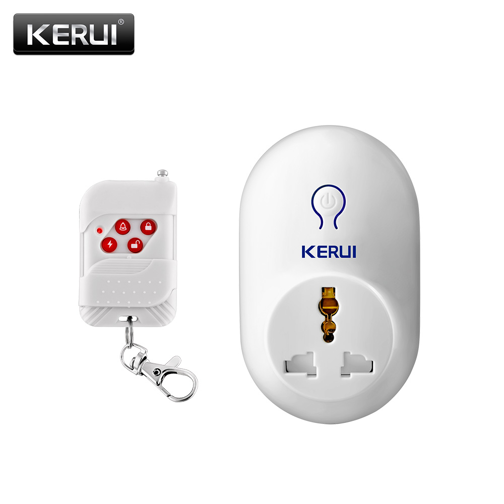 Kerui Smart Plug Socket Outlet 220V EU AU UK  US  Brand Electrical Socket To Smart home Remote Control kerui wireless remote switch smart socket power eu us uk au plug standard for home security alarm system g19 g18 8218g 433mhz
