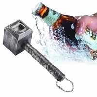 Bier Flasche Öffner Hammer von Thor Geformt Opener Wein Bier Soda Glas Kappe Flasche Opener Küche Bar Geschenk Zink-legierung