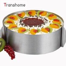 6-12 pulgadas ajustable torta del molde Para Hornear torta de mousse de anillo de acero inoxidable de Alta calidad Herramientas de la Hornada Torta Herramientas de Cocina accesorios