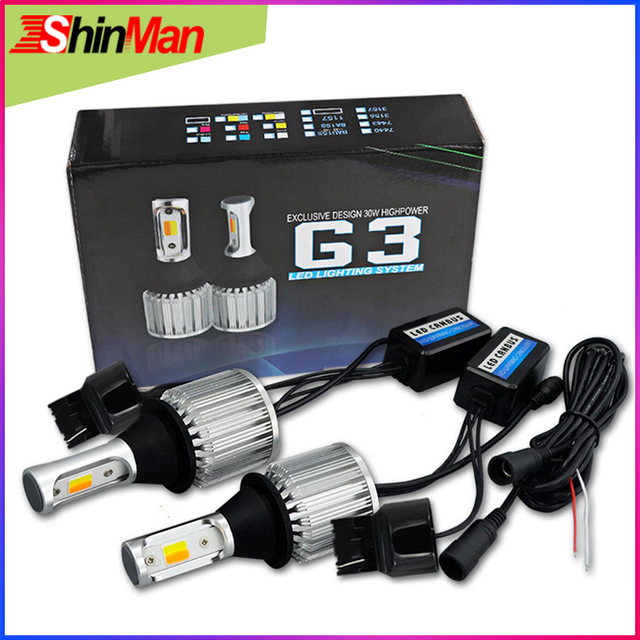 ShinMan WY21W 7440 T20 led Auto LED tageslicht drl led tagfahrlicht drl Drehen licht Blinker Licht Für mazda 3 Axela
