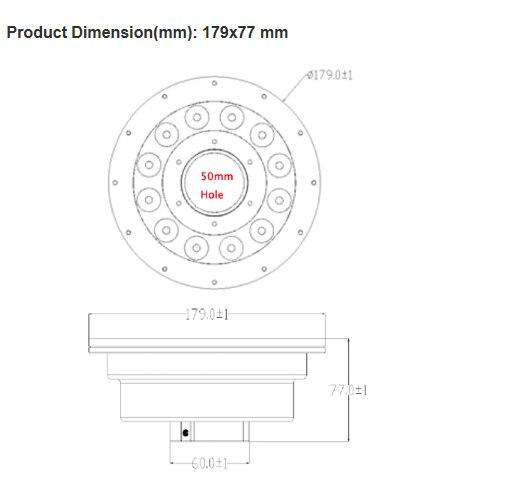 Ip68 impermeabile in acciaio inox 316 ac12v 18 w 3 in rgb ha condotto la luce fontana controllo dmx512 applicabile in dolce/salt (mare) acqua - 5