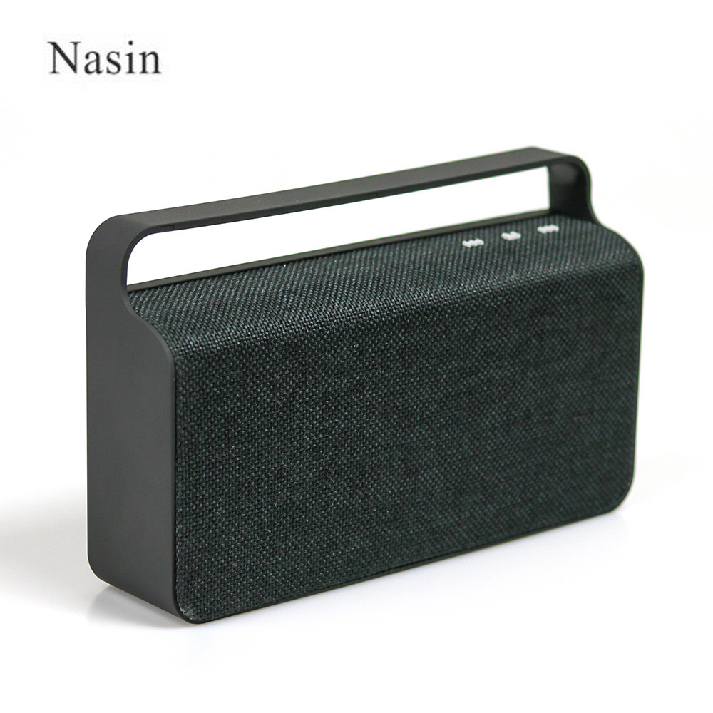 Une Enceinte Bluetooth Us 26 94 6 Off Nasin Hs456 Speaker Bluetooth Portable Boombox Handle Bass Fm Cloth Square Wireless Enceinte Bluetooth Portable Puissant In Portable