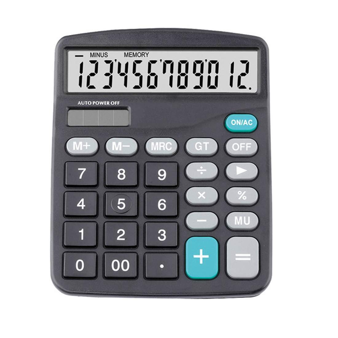 NOYOKERE Solar Calculator Calculate Commercial Tool Battery or Solar 2in1 Powered 12 Digit Electronic Calculator and Button deli brand solar calculator office finance accounting large computer screen 12 digit white 40d1596