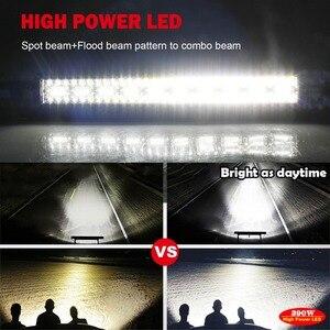 Image 4 - CO światła 3 wiersze 390 W światło terenowe LED Bar 12D 22 cal LED robocza listwa oświetleniowa Flood Spot wiązki 4x4 pasek Led do ATV SUV samochodów ciężarowych 12 V 24 V