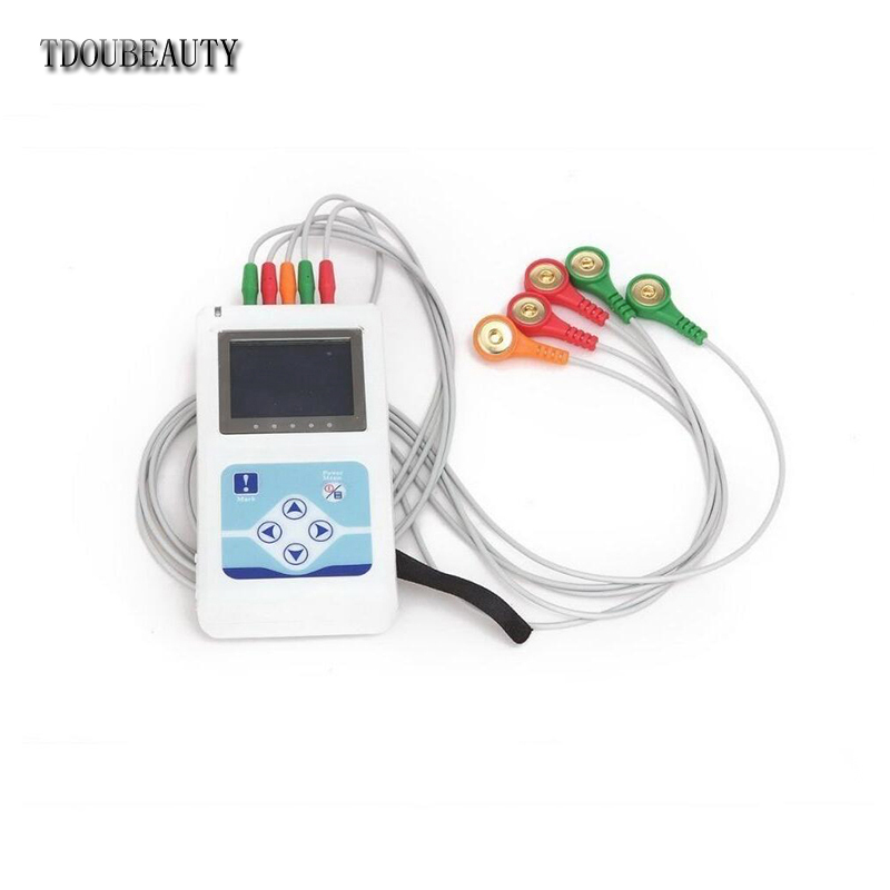 TLC9803 Dynamic ECG EKG Systems Electrocardiograph Systems Holter DCG OLED COLOR DISPLAY HOLTER 3-CHANNEL RECORDER Free Shipping promise china ecg supplier single channel electrocardiograph with software pro ecg01g