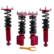 Camber Adjustable Full Coilover Suspension for Mazda RX7  FC3S  fc-3s 1986-1991 Lowering Kit for 1986-1991 Coilovers Strut for mazda rx7 rx 7 fc3s 86 91 coilover suspensions kit shock absorber strut red
