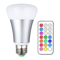 Dimmable Brightness 10W RGB E27 LED Bulb Light Stage Lamp 12 Colors With Remote Control Led