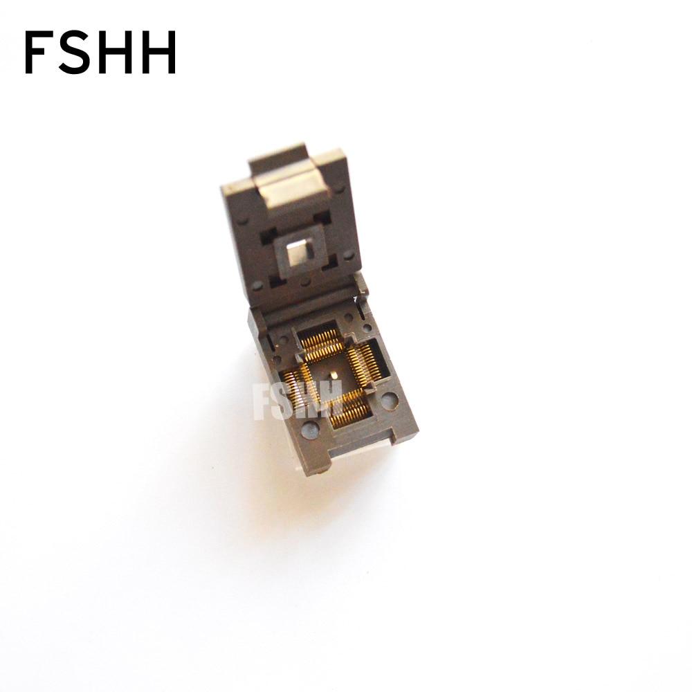 DFN56 MLF56 QFN56 WSON56 IC Test Socket(Flip test seat) Size=8x8mm  Pitch=0.5mm xeltek private seat tqfp64 ta050 b006 burning test