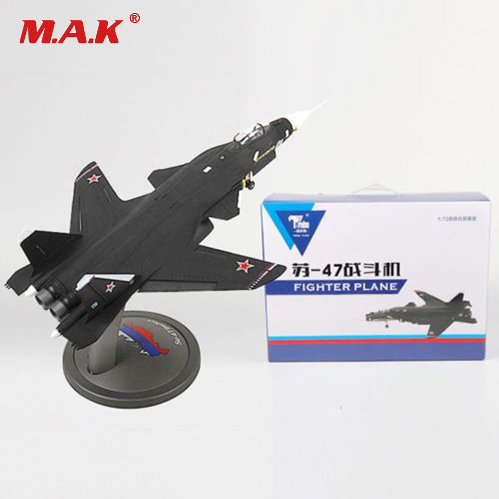 1/72 Scale Alloy Plane Model Toys Sukhoi Su-47 Type Firkin Supersonic Aircraft Fighter 1945 Diecast Toy for Kid Gift Collection brand new terebo 1 72 scale fighter model toys russia su 34 su34 flanker combat aircraft kids diecast metal plane model toy