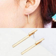 High-end boutique T simple metal Earrings shaped earrings jewelry wholesale(China)