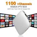 Iptv 1100 + Europa Francês Árabe IPTV Canais de Fluxo de Fluxo de Caixa Android Perseguidor Middleware Melhor do que Mag254 Mag250 IPTV Sever