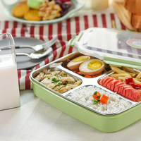 QF304 Stainless Steel Insulated Lunch Box Lunch Box Lunch Box Lunch Box Dining Tray Student Plastic