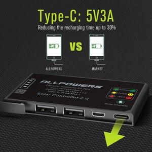 Image 4 - ALLPOWERS 5V 21W 내장 10000mAh 배터리 휴대 전화 용 휴대용 태양열 충전기
