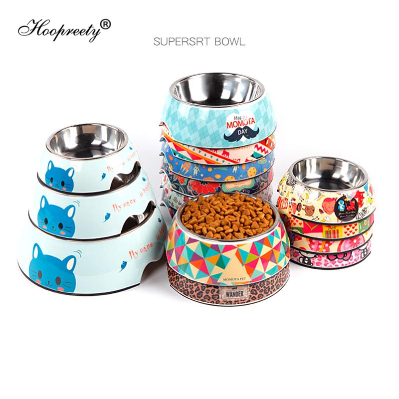 Stainless Steel Dog Bowl Spray Paint Water Bowl For Dogs Puppy Cats Feeder Water Foot Tool Accessories For Pets Top Quality 20E
