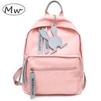 Moon Wood New 2018 Women Girls Backpack Pink Nylon Backpacks Waterproof School Bags For Teenagers Girls