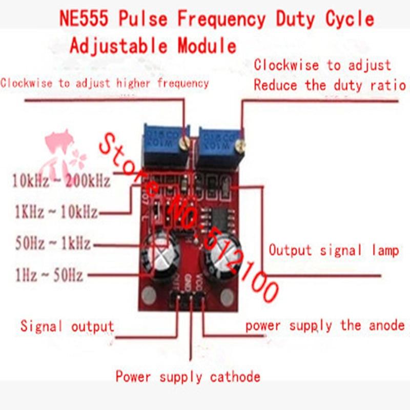 NE555 Duty Cycle Fréquence Réglable Onde Carrée Générateur De Signaux Board Module