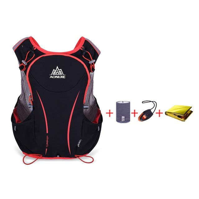 09b7283083 AONIJIE 5L Outdoor Sport Running Vest Backpack Hydration Vest Pack+250/500ML  Water Bag