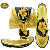 MM1053 Calcanhar 0.5 Cm Sapatos de Casamento E Saco de Ouro Mais Recente Projeto Africano Moda Mulher Strass Bombas Saltos Correspondentes Saco Quente venda