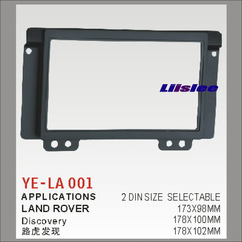 Liislee 2 DIN ABS Frame Panel Fascia For Land Rover Discovery Aftermarket Car Stereo Radio DVD Player GPS Navi Installation