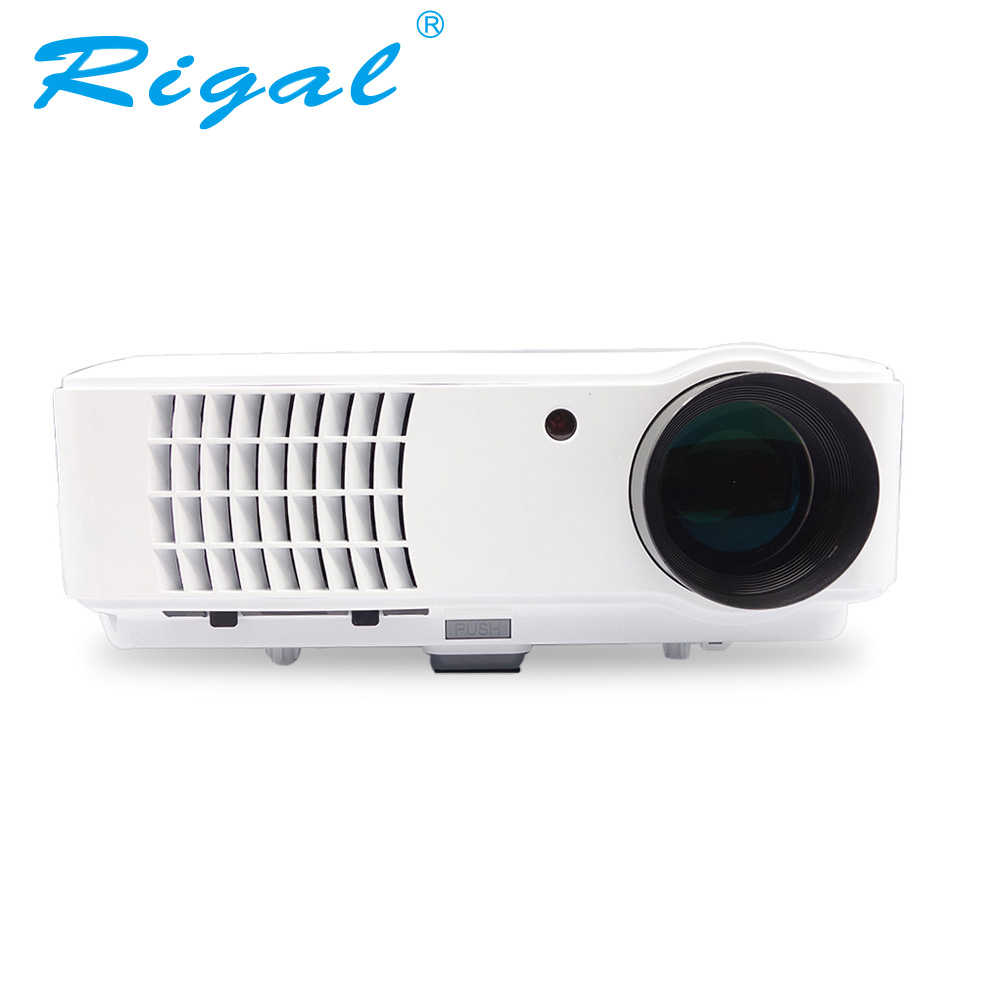 Rigal rd804w proyector led inteligente proyector android wifi 2600 lúmenes proye