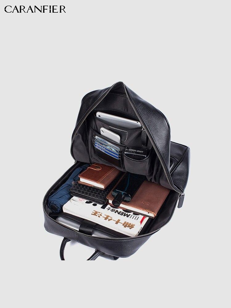 Mochila Vintage para estudiantes de viaje de alta calidad, mochila informal, mochila para ordenador portátil, de cuero genuino, para hombres y mujeres-in Mochilas from Maletas y bolsas    2