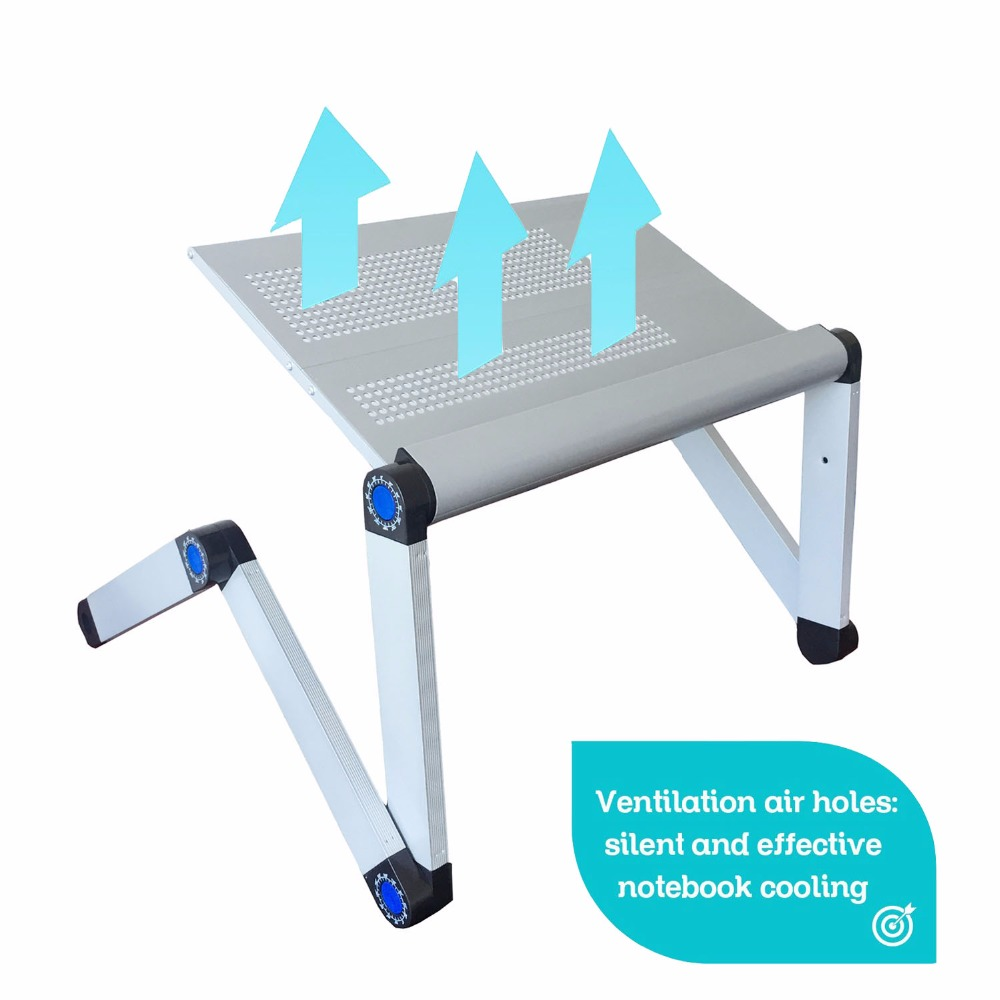 Adjustable Portable Laptop Table Stand Lap Sofa Bed Tray Computer - Furniture - Photo 6