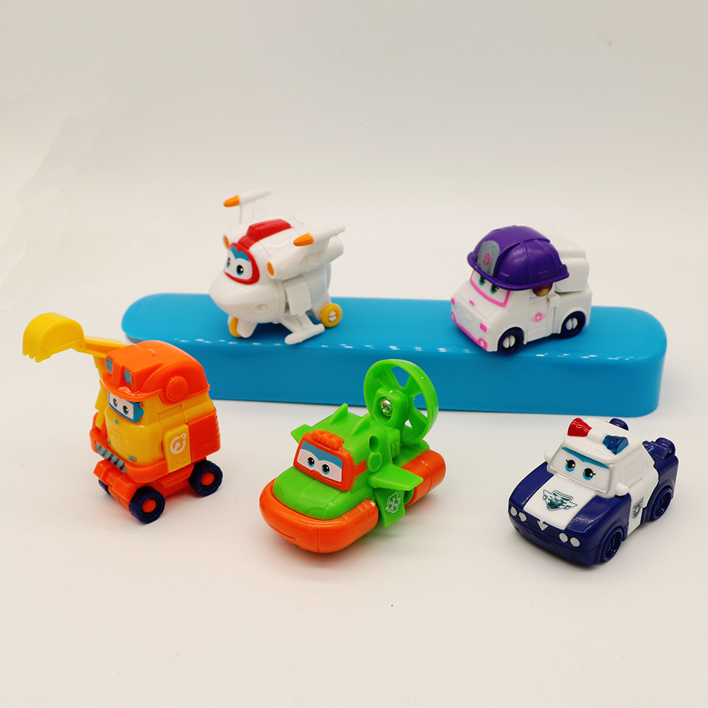 Image 1 - 5/8 Pcs/set MINI Anime Super Wings Model Mini Planes toy Transformation Airplane Robot Action Figures superwings-in Action & Toy Figures from Toys & Hobbies