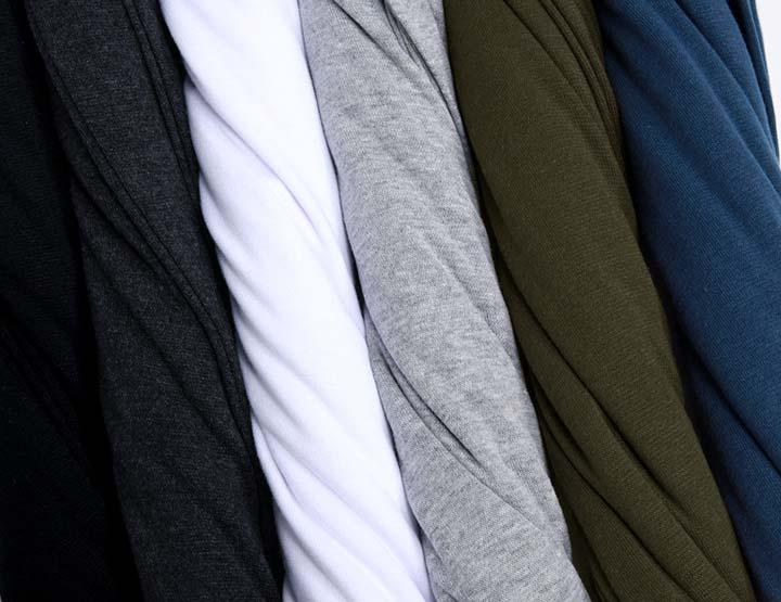 Elastic Mens T-Shirt V-Neck Long Sleeve Men T Shirt For Male Lycra And Cotton T-Shirts Man Clothing TShirt 34