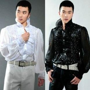 2017 Мужской костюм рубашка блестка мужской костюм вечернее платье одежда певица одежда S-3XL