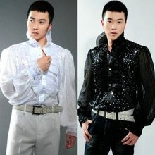 2017 Male costume shirt paillette male costume formal dress clothes The singer's clothing S-3XL