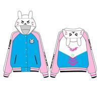 Game D Va OW Sweatshirts Cotton Hoodies Baseball Coats Dva Autumn Clothes Winter Jackets For Women