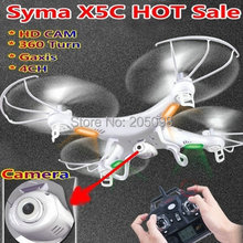 100% Original Syma X5C RC QuadCopter With HD 2G Camera 2.4G 4 Channels 6axis gyro Drone remote control Quadcopter X5C airplane