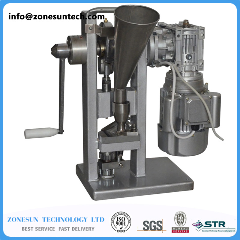 Single punch tablet press machine/tablet pressing machine both motor-driven and handle manual/mini pill maker