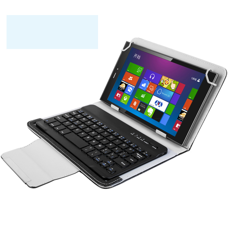 2016 Newest Bluetooth keyboard case for LUOGU 9.6 inch tablet pc for LUO GU 9.6 inch keyboard case LUOGU T8 universal 61 key bluetooth keyboard w pu leather case for 7 8 tablet pc black
