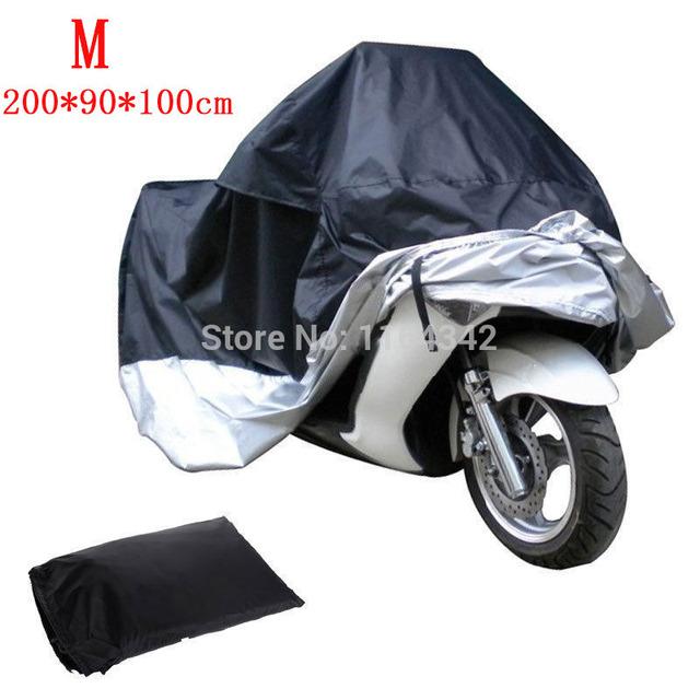 Motocicleta Capa de Chuva Bicicleta Tampa Protetora Contra Poeira Resistência À Água da Chuva Ao Ar Livre Evitar A Neve Moto Carro Cobre Tamanho M 200*90*100 cm L * W * H