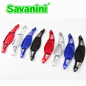 Image 3 - Savanini Aluminum Car Steering Wheel Shift Paddle Extension For New Audi R8(2016 2017),RS3(2017) TT RS(2016 2017) car styling
