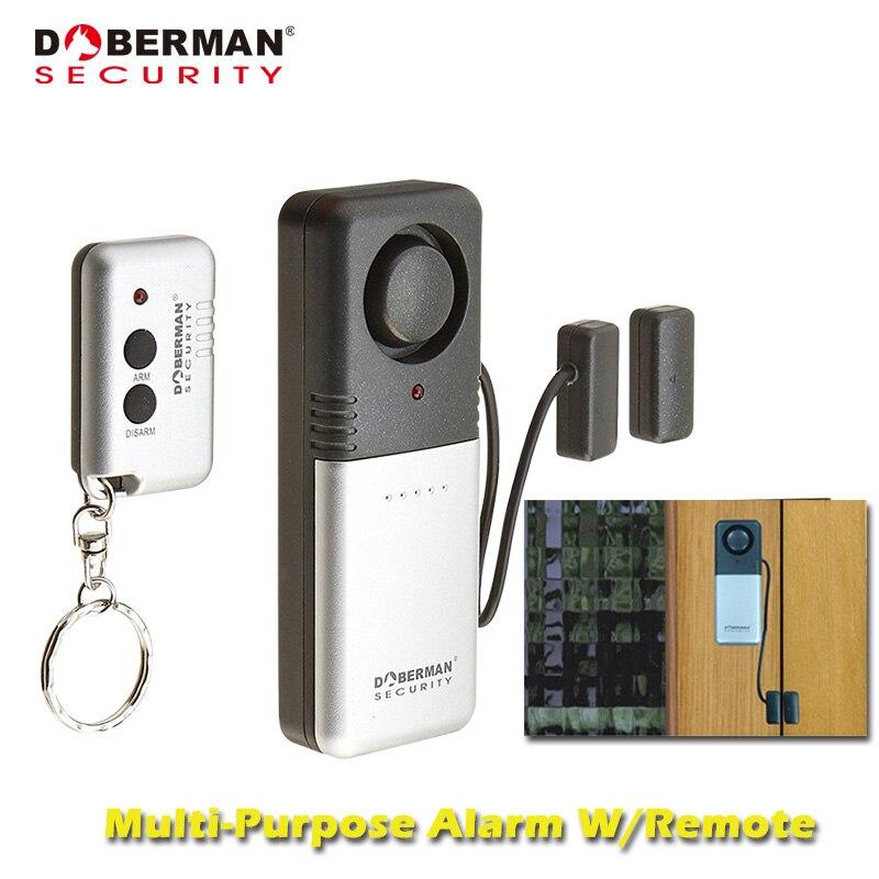 Doberman Segurança Casa Sistema de Alarme de Segurança Sem Fio Controle Remoto Simples Detector de Sensor Magnético Da Porta de Alarme para Casa