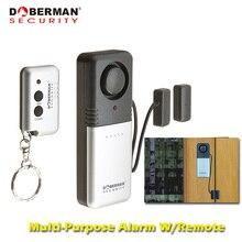 Doberman di Sicurezza Sistema di Sicurezza Domestica di Allarme Senza Fili di Telecomando di Allarme Semplice per la Casa Magnetico del Portello del Rivelatore del Sensore