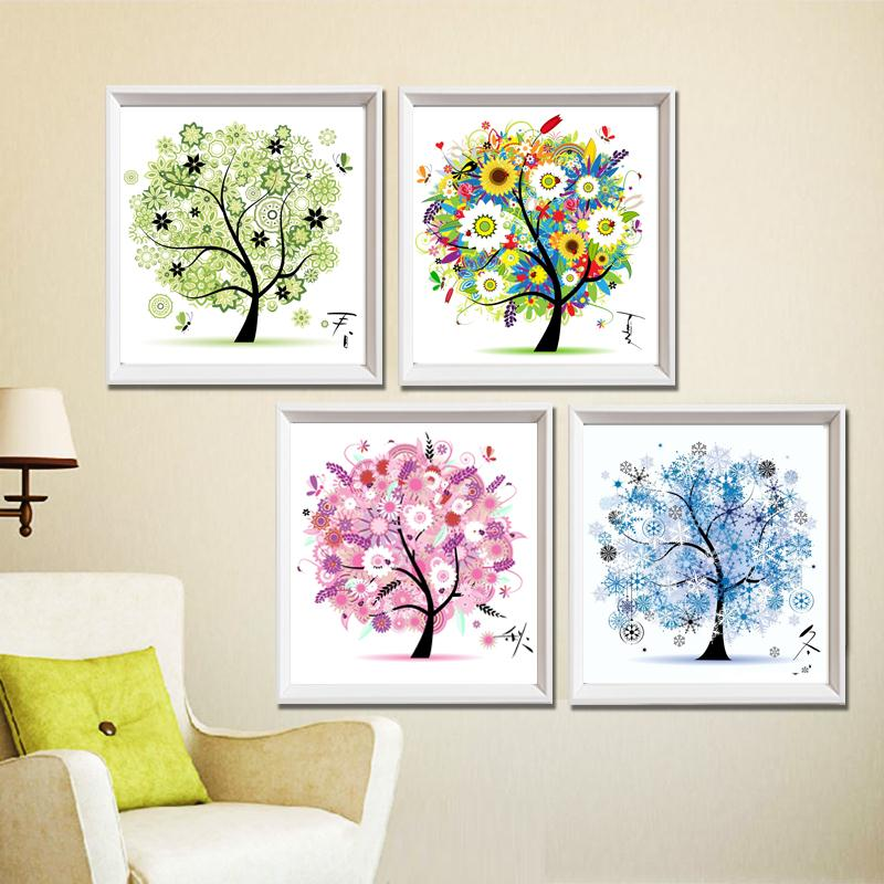 Cross Stitch Needlework Wall  Home Decor Tree Thread Counted Cross-Stitching Kit Embroidery Dmc Floss De Croix Free Shipping