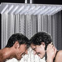 Oferta Cabezal de ducha ultrafino de acero inoxidable 304 cuadrado de FreeShipping, ducha de lluvia de 8/10 pulgadas, no incluye Brazo de ducha