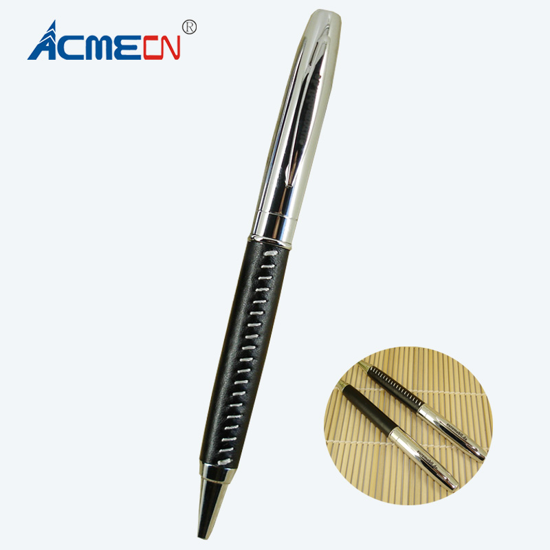 Free shipping Hot Sale Low price PU Leathr Metal Ball Pen