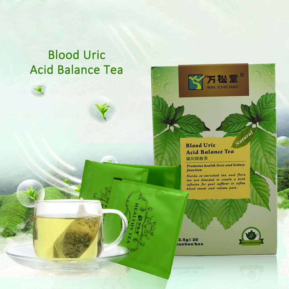 3pack Chinese herbal Blood Uric Acid Balance promotes health liver and kidney function macedonian nutrition herbal plants sport and health