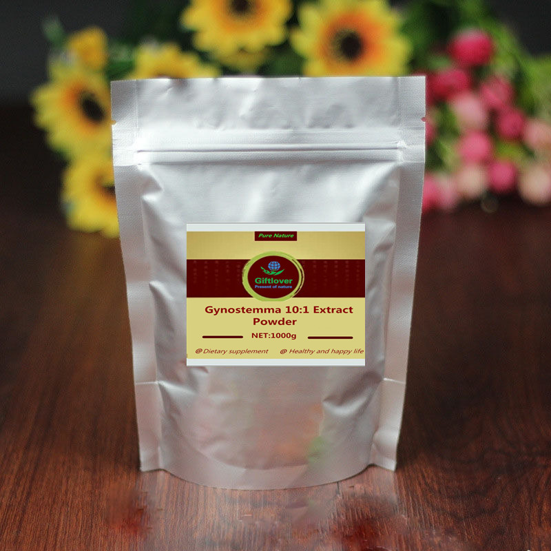 Pure Gynostemma Extract Powder,Jiaogulan,Anti Cancer,Anti Aging,Reduce blood lipid,Enhance immunity, Protect Liver,free shipping