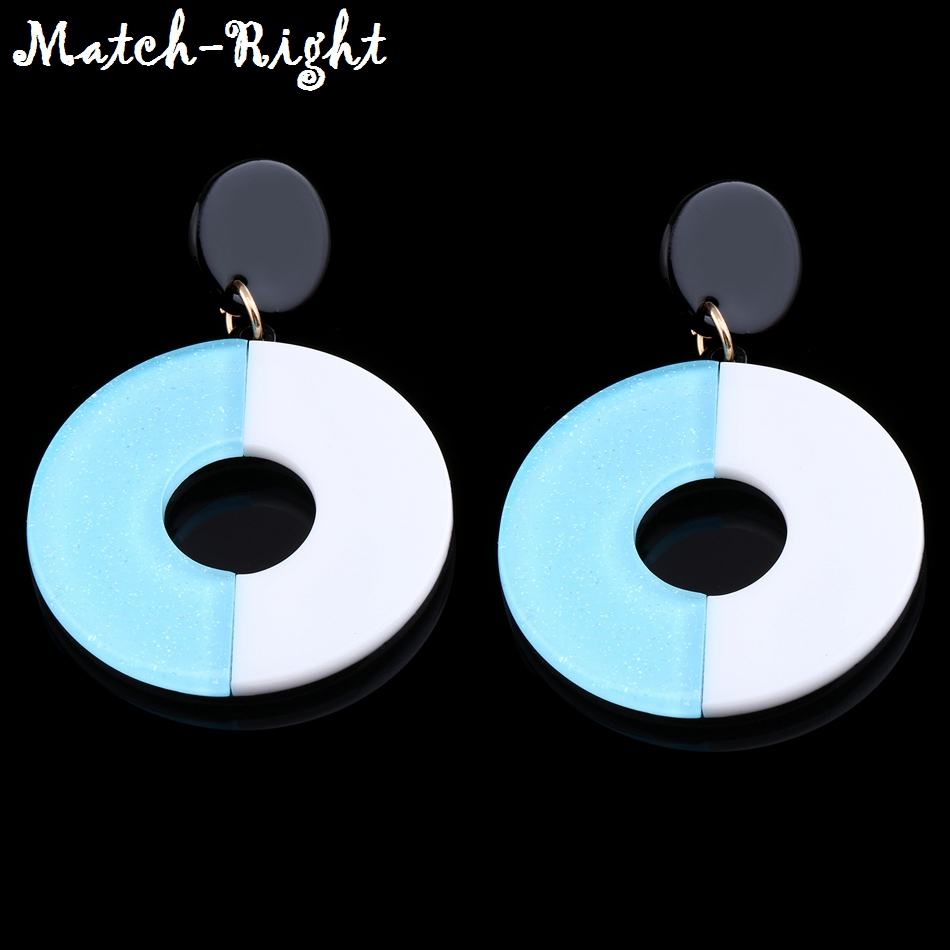 Match-Right Trendy Earrings for Women/Round//Circle/Big/Korean/yinyang/Statement/Drop/Women Earring Pendant Jewelry female SP404